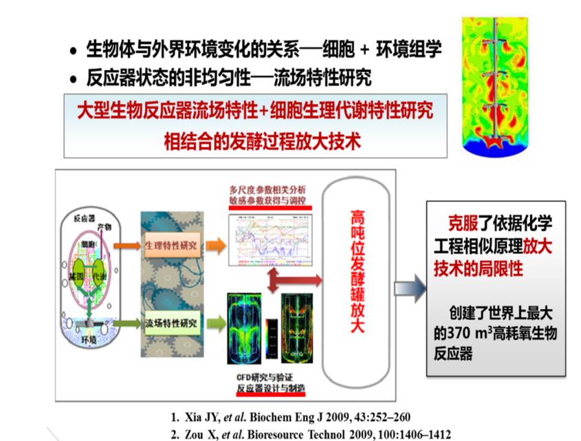 反应器流场特性与生理特性相结合的发酵过程放大原理与方法